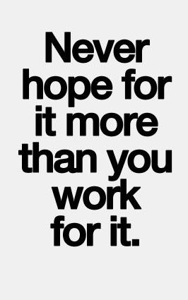 hope for it